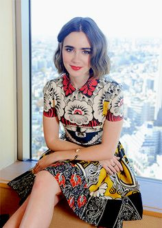 Lily Collins promoting Love Rosie in Japan
