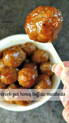 With just a few simple ingredients you can have these sweet and spicy meatballs whipped up in your slow cooker with this easy recipe for Crock-Pot Honey Buffalo Meatballs. The perfect appetizer for your next party or get-together!