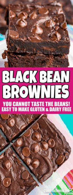 It's crazy, but you cannot taste the beans in these brownies! They just taste like amazing, fudgy brownies. Even my SUPER picky eaters didn't notice that these weren't the regular brownies. Easy to make gluten-free, dairy-free and nut-free. #blackbeanbrownies #brownies #glutenfreebrownies #dairyfreebrownies #nutfreebrownies #glutenfree #nutfree #dairyfree #baking #recipes #chocolate #lftorecipes