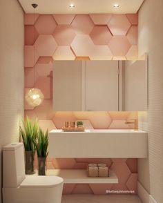 ideias para lavabo pequeno is part of Wallpaper house design - Bad Inspiration, Bathroom Inspiration, Modern Bathroom Design, Bathroom Interior Design, Design Kitchen, Bathroom Designs, Design Bedroom, New Interior Design, Home Wallpaper