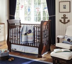 What we've decided on, with  a few changes....Jackson Nursery Bedding | Pottery Barn Kids