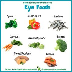 ☛ Foods for eye health.  ✒ Share | Like | Re-pin | Comment