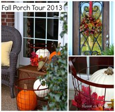 Fall Front Porch Decor from houseontheway.com