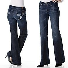 7 FOR ALL MANKIND Jeans Kate in Barcelona Straight Size 4 27 x 32 ...
