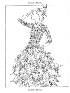 Adult Coloring Book Flower Fashion Fantasies Designs Relaxing Art Therapy New 0486498638 | eBay