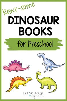 Dinosaur books that are perfect for a read-aloud, circle time, or just to curl up with! They range from silly pretend tales to serious carnivore fact books. Preschool kids love dinosaurs, so use that enthusiasm as a springboard to teaching and learning! Dinosaur Books For Kids, Toddler Books, Preschool Writing, Preschool At Home, Teaching Kids, Kids Learning, September Preschool Themes, Animal Facts For Kids, Toddler Themes