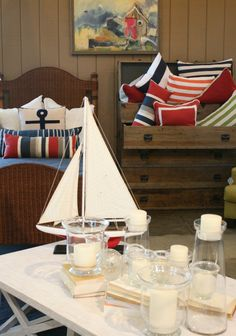 Great accessories for decorating your cabin! by Nantucket Home