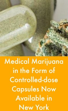 Medical Marijuana in the Form of Controlled-dose Capsules Now Available in New York #MultipleSclerosisNewsToday