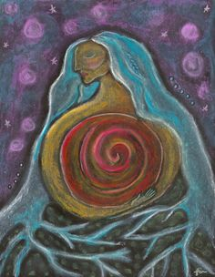 embrace Goddess is simply to discover the Divine in yourself as powerfully and vividly feminine' Sue Monk Kidd. Art: Center by Lisa J . Sacred Feminine, Feminine Energy, Divine Mother, Goddess Art, New Energy, Gods And Goddesses, Archetypes, Sacred Geometry, Mother Earth