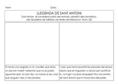 Per il·lustrar la llegenda de sant Antoni. Reading Comprehension, Religion, Chart, Spanish, Party, Reading, School, Celebrations
