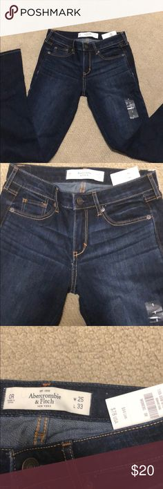 Brand new Abercrombie & Fitch jeans! Never worn jeans that just don't fit. Skinny boot cut with dark denim wash. Abercrombie & Fitch Jeans Boot Cut