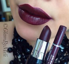 NYC.com (nyc cosmetics) lipstick in the color (mahogany) Jordana Cosmetics lip liner (Cabernet). Nyc lipstick can be purchased at target or walmart and Lipliner can be purchase at Walgreens or Cvs.