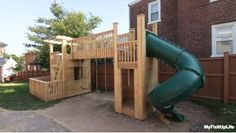 MyFixitUpLife's Mark & Theresa designed, built, and gave away a custom wood playset to one lucky fan. Watch the 3-part how-to video series, download the project plans