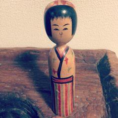 """@dubu2's photo: """"木の実さんの父 阿部平四郎工人 こけし 6寸 #こけし"""""""