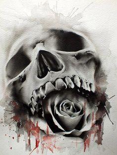 Calaveras y rosas