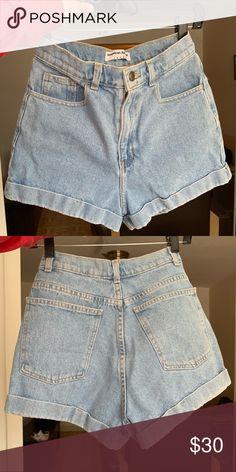 High shorts Apparel mom Light Wash waisted shorts Tags American Shorts Waisted jean high w15FFq