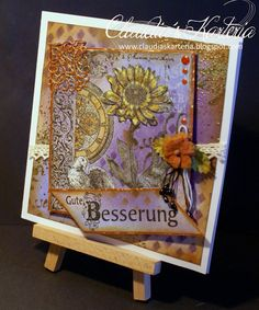 Claudia's Karteria Get Well, I Card, Blog, Frame, Home Decor, Boxes, Bricolage, Handmade, Creative