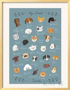 ABC Dog Poster 13X19