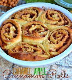 Mouthwatering Caramel Apple Cinnamon Rolls