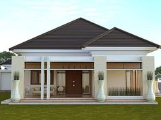 House plans modern bungalow living rooms Ideas for 2019 Bungalow Living Rooms, Bungalow Bedroom, Small House Design, Modern House Design, Style At Home, Bungalow Haus Design, Modern Minimalist House, Minimalist Home Design, Home Porch