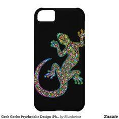 Geck Gecko Psychedelic Design iPhone 5 Cases.  $42.95 @Bluedarkat Lem