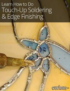Soldering can be one of the most frustrating aspects of making stained glass projects. Angela Berzins shows how to fix common problems when soldering. Making Stained Glass, Stained Glass Crafts, Stained Glass Designs, Stained Glass Panels, Stained Glass Patterns, Leaded Glass, Mosaic Glass, Fused Glass, Blown Glass