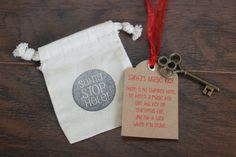 Santa's Magic Key  Santa Key  Santa Magic Key by lilbirdstitches #handmade #tbec #florida #gifts #Christmas #santa