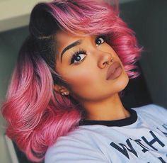 Pink hair ! Love it .  #pink #pinkhair #blackwomen