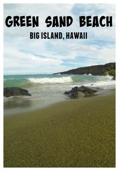 The magical Green Sand Beach. Big Island, Hawaii