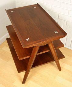 Vintage American of Martinsville 3 Tier Side Table - Mid Century Danish Modern
