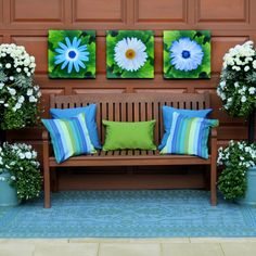 Harbour Blue Daisies Patio Makeover Kit at the Foundary