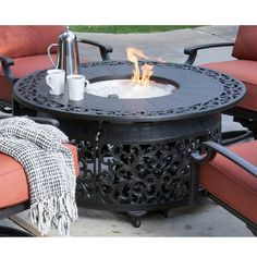 Paramount FP-251 Round Outdoor Propane Fire Pit Table | Lowe's Canada