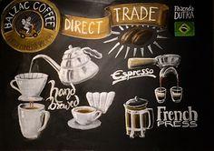 Coffee Chalkboard, Chalkboards, French Press, Brewing, Chalkboard, Blackboards, Cooking, Chalk Board