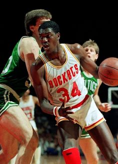 Hakeem Olajuwon Houston Rockets Vs Boston Celtics Kevin McHale Danny Ainge