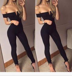 Givenchy, Balenciaga, Gucci, Ootd, Style Noir, Women's Summer Fashion, Trendy Fashion, Black Jumpsuit, Black Shorts