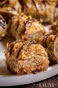 You Have Meals Poisoning More Normally Than You're Thinking That Homemade Pistachio-Walnut Baklava Roll Recipe. Firm Phyllo Dough Sheets With Layers Of Crushed Walnuts And Pistachios Rolled And Topped With A Sweet Syrup. Spring Desserts, Köstliche Desserts, Christmas Desserts, Delicious Desserts, Tart Recipes, Best Dessert Recipes, Holiday Recipes, Breakfast Recipes, Donut Recipes