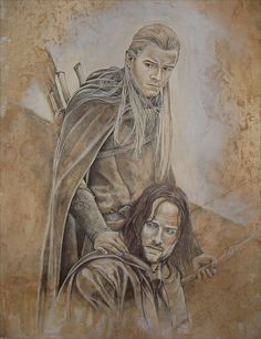 Aragorn - Legolas by cpn-blowfish on DeviantArt