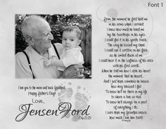 New Grandpa Father's Day Gift from Baby with Baby's Footprints Personalized Poetry Print From the Moment He First Held Me by foxcreationsonline on Etsy https://www.etsy.com/listing/229303578/new-grandpa-fathers-day-gift-from-baby