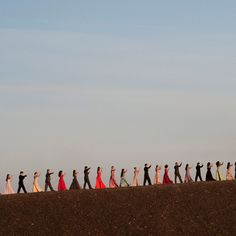 From Pina Bausch documentary. The best part was all the dancers performing this four step along a volcano or pit or something. Beautiful.