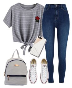 """OOTD #8"" by lila-montalvo on Polyvore featuring WithChic, River Island and Converse"