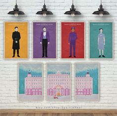 Pick Any 7 Prints. The Grand Budapest Hotel Art Print. Wes