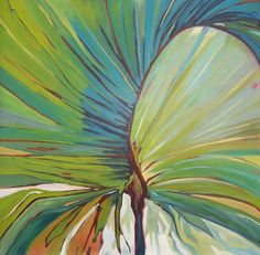 Palm Frond, oil on canvas, Carly Hardy  carlyhardy.com - sold
