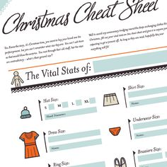 Christmas cheat sheet