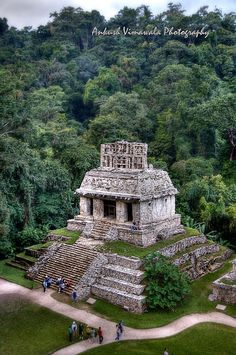 Temple of The Crosses Palenque Mexico