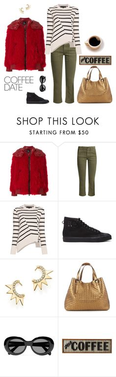 """""""Hot Coffee"""" by abmcgrath ❤ liked on Polyvore featuring Moncler Grenoble, The Great, Proenza Schouler, Raf Simons, Iconery Basics, Bottega Veneta, Acne Studios, Midwest of Cannon Falls, stripes and coffee"""