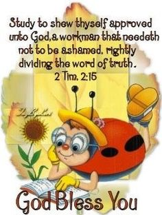 Study to show thyself approved unto God, a workman that needeth not to be ashamed, rightly dividing the word of truth. ~ 2 Timothy 2:15