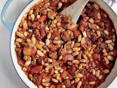 Sausage, Cannellini, and Tomato Ragout - Quick and Easy Pork Recipes for Dinner Tonight - Cooking Light Mobile Pork Recipes, Healthy Recipes, Sausage Recipes, Healthy Dinners, Recipies, Oven Recipes, Easy Dinners, Healthy Foods, Easy Recipes