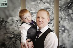 Cute, natural portrait of the groom and his son as they get ready for the wedding. Weddings at Druids Glen Resort photographed by Couple Photography www.couple.ie