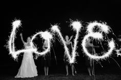 L.O.V.E sparklers ... one of my favorite pics ever!