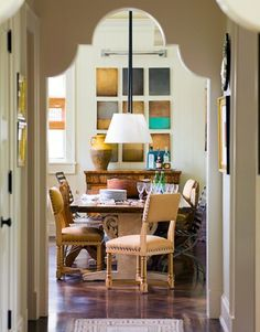 Image from house beuatiful/ Frank DelleDonne home in Summit, NJ. I LOVE the detail in the doorway.